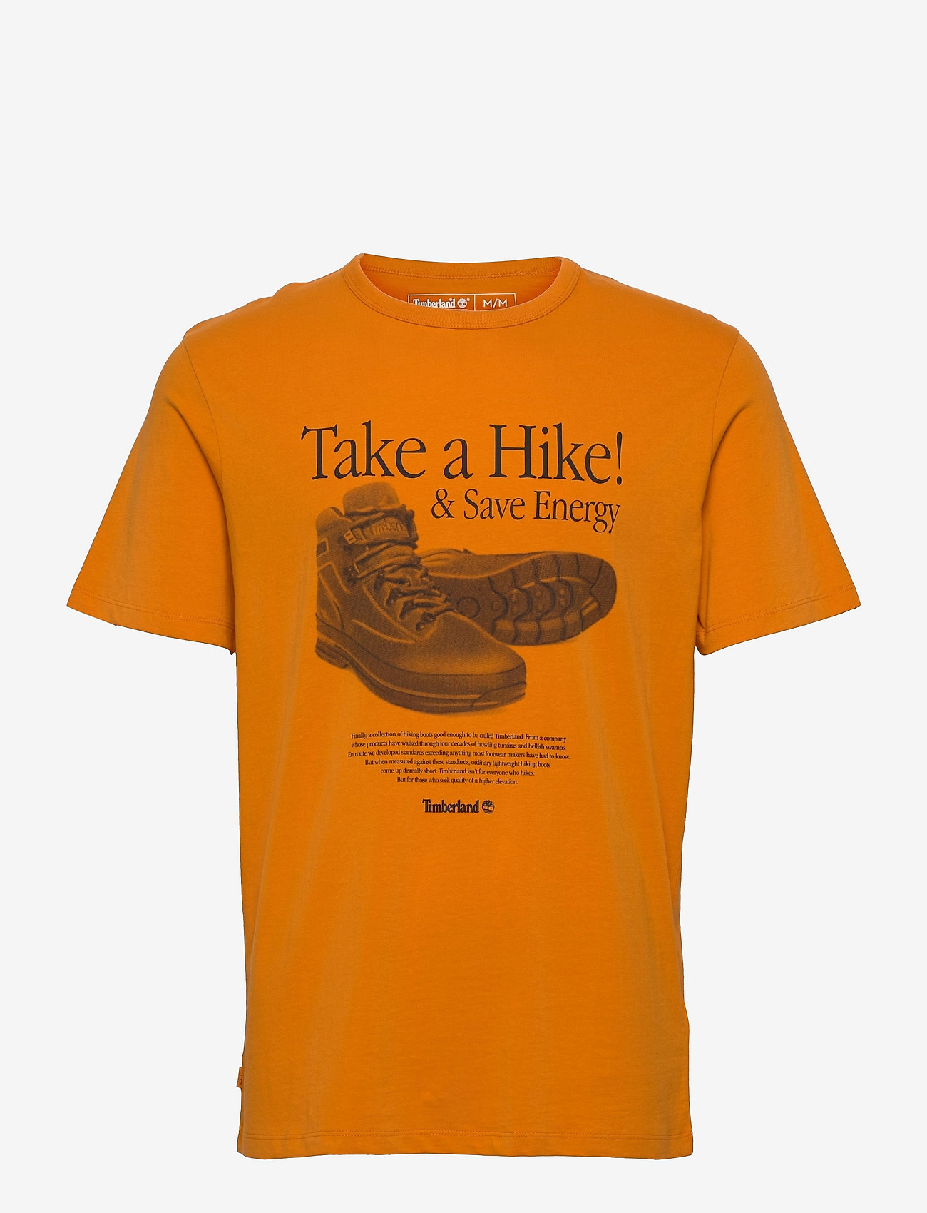 Timberland - SS Arch Front Hiker Tee - t-shirts à manches courtes - dark cheddar - 0