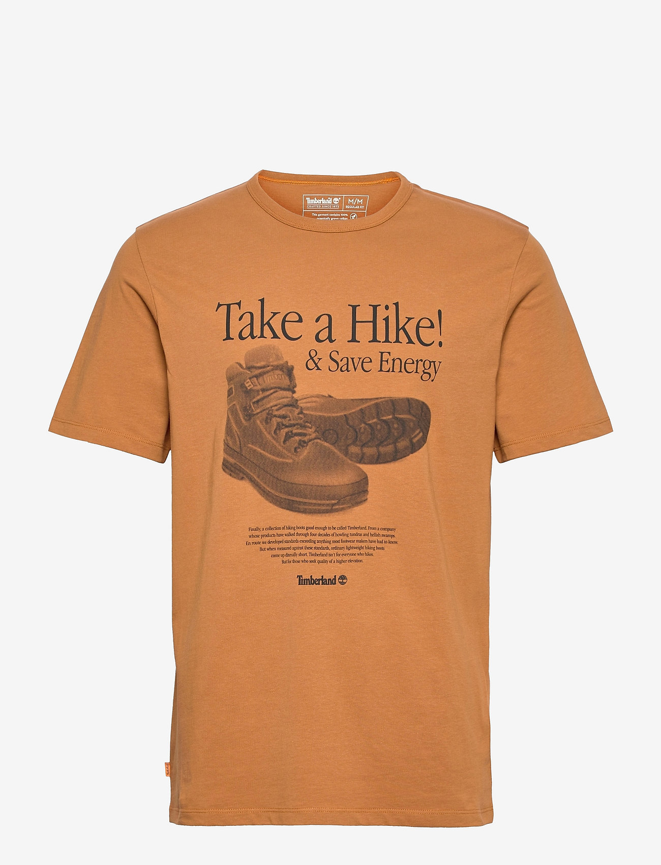 Timberland - SS Arch Front Hiker Tee - t-shirts à manches courtes - wheat boot - 0