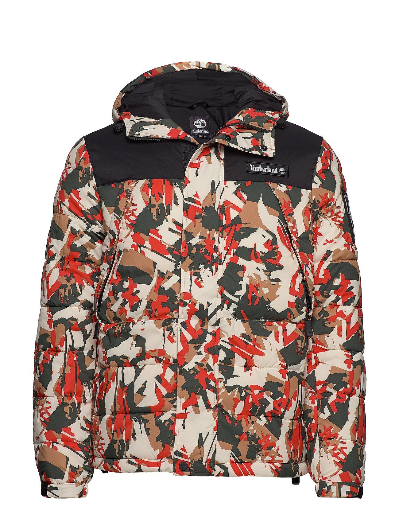 Timberland Outdoor Archive Camo Puffer Jacket - SPICY ORNGE TREK CAMO/BLK