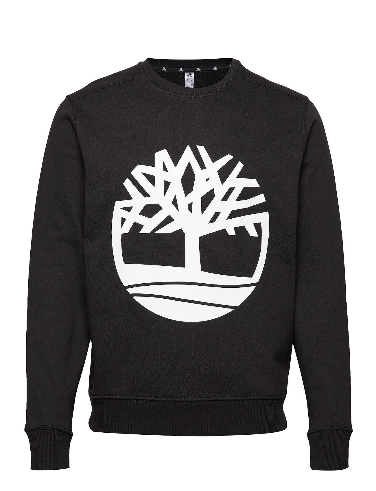 Timberland Core Tree Logo Crew Sweat (Brushback) - BLACK
