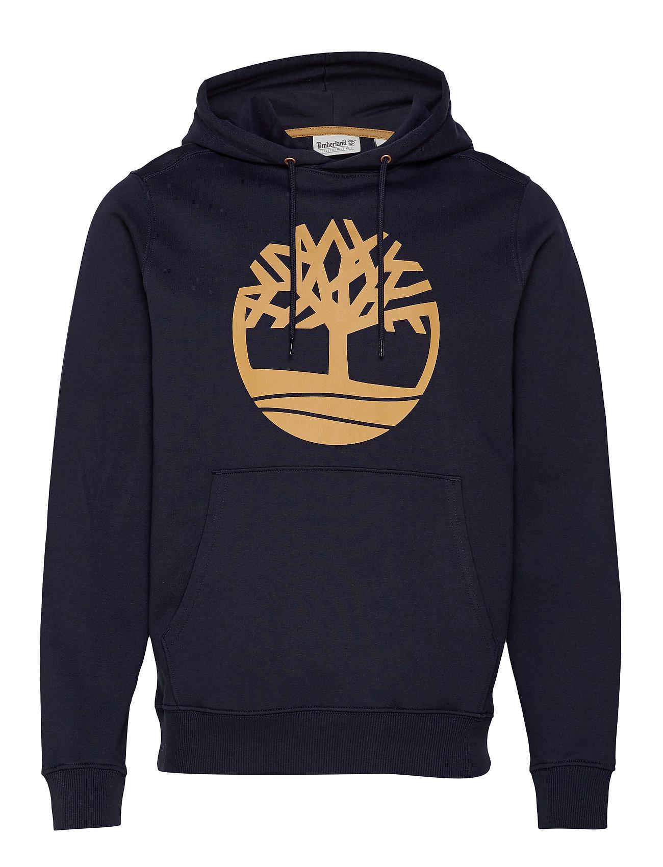 Timberland Core Tree Logo Pullover Hoodie (Brushback) - DARK SAPPHIRE