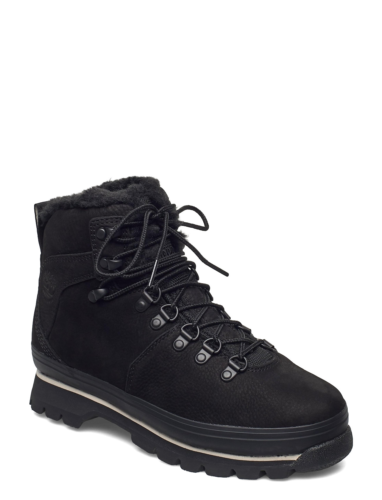 Image of Euro Hiker Wp Fur Lined Shoes Boots Ankle Boots Ankle Boot - Flat Sort Timberland (3465799337)
