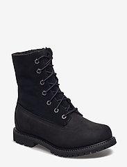 Timberland - Authentics Teddy Fleece WP Fold-Down - flade ankelstøvler - black - 1
