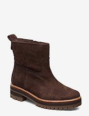 Timberland - Courmayeur Valley FauxFur - flat ankle boots - dark walnut - 1