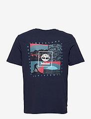 Timberland - YC SS Back Box T relx - t-shirts basiques - peacoat - 1