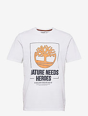 Timberland - SS FT NNH Front Tee - t-shirts à manches courtes - white - 0