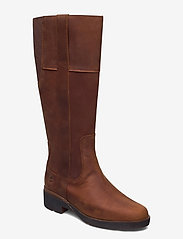 Timberland - Graceyn Tall Side Zip WP - lange laarzen - saddle - 0