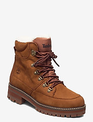 Timberland - Courmayeur Hiker WP Fur Lined - flat ankle boots - saddle - 0
