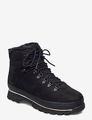 Timberland - Euro Hiker WP Fur Lined - flat ankle boots - jet black - 0