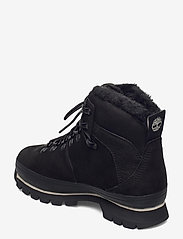Timberland - Euro Hiker WP Fur Lined - flat ankle boots - jet black - 2