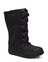 8 In Lace Up WP - BLACK