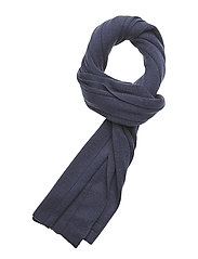 Rib Scarf With Logo Patch - DRESS BLUES
