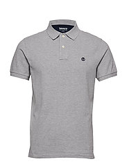 SS Millers River Pique Slim Polo - MEDIUM GREY HEATHER