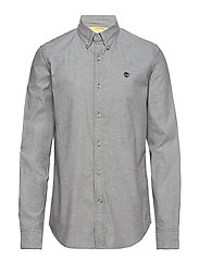 LS Lightweight Flannel - CHARCOAL HEATHER