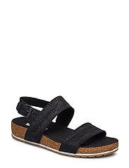 Malibu Waves 2Band Sandal - JET BLACK