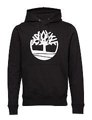 Core Tree Logo Pullover Hoodie (Brushback) - BLACK