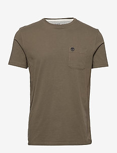 SS Dun-Riv Pocket T - logo t-shirts - grape leaf