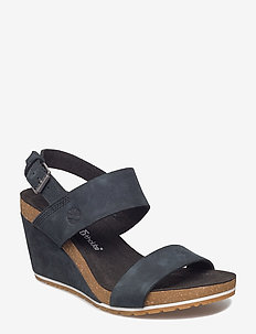 Capri Sunset Wedge - kilehæl - jet black