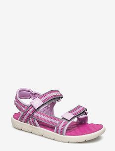 Perkins Row Webbing Sandal - sandals - fuscia rose
