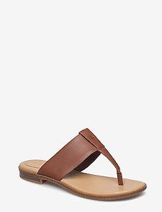 Cherrybrook Thong - flat sandals - cognac