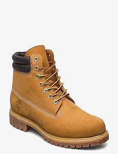 6 in Double Collar Boot - laced boots - wheat