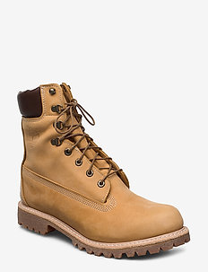 8 IN PREM BT WHT - laced boots - wheat