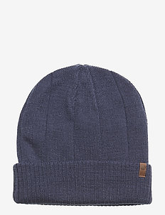 Rib Cuff Beanie - DRESS BLUES