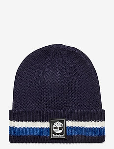 STRIPE CUFFED BEANIE NAUTICAL BLUE - bonnet - nautical blue