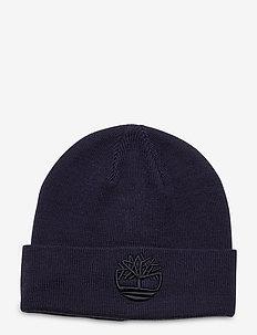 Tonal 3D Embroidery Beanie - czapka - peacoat