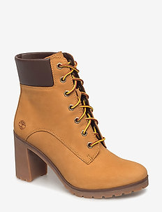 Allington 6in Lace Up - heeled ankle boots - wheat