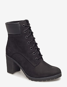 Allington 6in Lace Up - ankle boots with heel - black