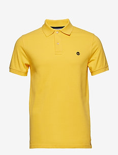 SS Millers River Pique Slim Polo - HABANERO GOLD