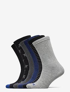 6PP LOGO STRIPE MIX CREW GIFT BOX - regular socks - black