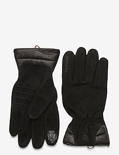 Nubuck Leather Boot Glove BLACK - handskar - black