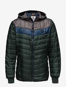 Skye Pk TF Hooded Jacket - DK SPRUCE/DK DENIM/PAVMNT