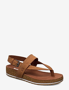 Malibu Waves Thong - flat sandals - saddle