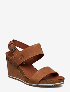Capri Sunset Wedge - kilehæl - saddle