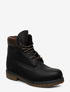 HER 6IN PREM BT WP DK GRN - laced boots - peat