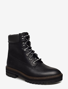 London Square 6in Boot - platte enkellaarsjes - jet black