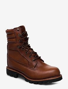 AMERICNCRFT 8INWPBT MDBRN - laced boots - argan oil