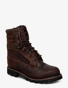 AMERICNCRFT 8INWPBT DKBRN - laced boots - potting soil