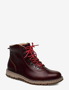 BRITTON HILL HKER MD BRN - laced boots - wheat quartz