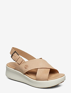 Los Angeles Wind Slingback - flat sandals - hazelnut