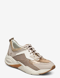 Delphiville Fabric/Leather Sneaker - low top sneakers - gold