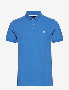 SS MR Jacquard P - short-sleeved polos - strong blue