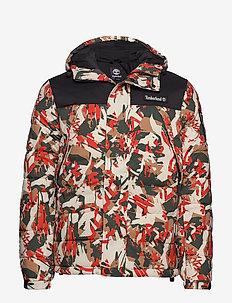 Outdoor Archive Camo Puffer Jacket - SPICY ORNGE TREK CAMO/BLK