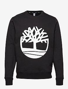 Core Tree Logo Crew Sweat (Brushback) - BLACK