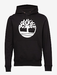 Core Tree Logo Pullover Hoodie (Brushback) - BLACK