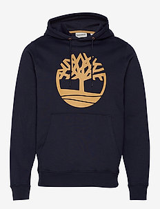 Core Tree Logo Pullover Hoodie (Brushback) - DARK SAPPHIRE