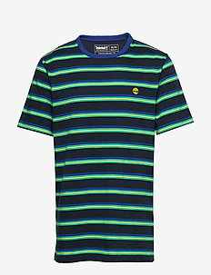 SS YD Ringer T - kortærmede t-shirts - drk sapphire/deep mint yd